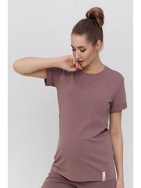 MEGAN NR-21.014,011 Базова трикотажна футболка для вагітних і годуючих мам.