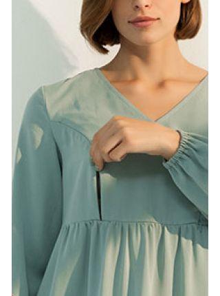 TIFFANY DR-31.061 Вільна сукня з оборками для вагітних і годуючих
